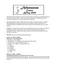 Athenaeum Program Spring 2005