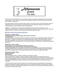 Athenaeum  Program 2005-2006