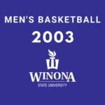 Winona State University vs. University of North Dakota Men's Basketball Game 2003 by Winona State University