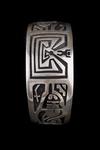 Hopi Overlay Bracelet, man in the maze