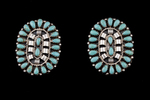 Zuni Cluster Petite POint, turquoise