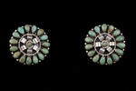 Zuni Rounder Petite Point Earrings, turquoise