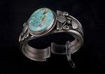 Navajo Bracelet, one stone, turquoise