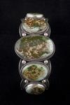 Navajo Bracelet, five stone, pilot mountain turquoise