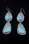 Navajo Dangle Earrings, turquoise