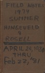 Fremling, Rosell, and Hingeveld Field Notes 1974-1981