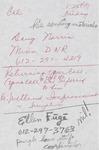 Dredging correspondence by Cal R. Fremling