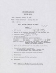 Lake Winona Committee meeting minutes, 1992-1993 by Cal R. Fremling