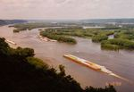 Mississippi River barge photographs