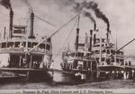 Riverboat postcards by Cal R. Fremling