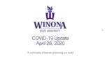 COVID-19 Update: April 29, 2020
