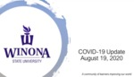 COVID-19 Update: August 19, 2020 by Winona State University