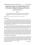 Reducing Aggressive Male Behavior in Elementary School: Promising Practices
