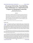 Advancing Scholarship, Team Building, and Collaboration in a Hybrid Doctoral Program in Education Leadership