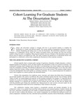 Cohort Learning for Graduate Students at the Dissertation Stage
