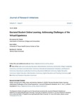 Doctoral Student Online Learning: Addressing Challenges of the Virtual Experience