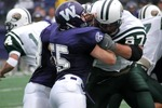 WSU Warrior Football Action Photograph 2002 by Doug Sundin and Winona State University