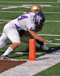 WSU Warrior Football Action Photograph 2008 by Andrew Nyhus and Winona State University