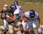WSU Warrior Football Action Photograph 225 by Andrew Nyhus and Winona State University
