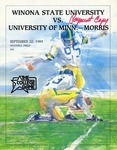 Winona State University vs. University of Minnesota - Morris: Football Program by Winona State University