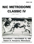 NIC Metrodome Classic IV: Football Program by Winona State University