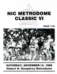 NIC Metrodome Classic VI: Football Program by Winona State University