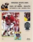 Winona State Univ. vs. Univ. of Minn. - Duluth: Football Program by Winona State University