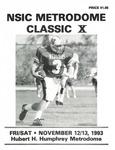 NSIC Metrodome Classic X: Football Program by Winona State University