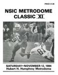 NSIC Metrodome Classic XI: Football Program by Winona State University