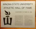 Winona State Hall of Fame Dedication Plaque by Winona State University