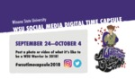 WSU Homecoming 2018 Social Media Time Capsule Logo by Winona State University