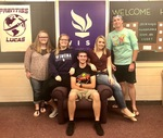 Five Students in the Prentiss Lucas Dorm Homecoming 2018 by Tori Senica