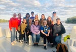 Students on the Cal Fremling Boat Homecoming 2018 by Tori Senica