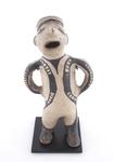"""Ceramic figure, Cochiti pueblo (New Mexico). date unknown, 9 3/4"""" tall"""