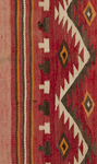Artist Unknown. Navajo Tec Nos Pos/Red Mesa areas, floor rug. ca 1930. Homespun wool, natural yarns and aniline dyes.