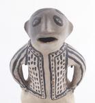 """Clay figure, Cochiti pueblo, 12 1/4"""" tall"""