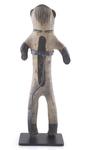 """Clay figure, Cochiti pueblo, 15"""" tall"""