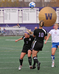 WSU Warrior Soccer Action Photograph 2008 by Winona State University and Andrew Nyhus