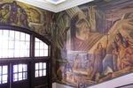 Somsen Hall Mural, East Wall, North Corner by John Martin Socha
