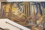 Somsen Hall Mural, West Wall, Left and Center by John Martin Socha