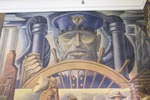 Somsen Hall Mural, West Wall, Right by John Martin Socha