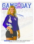 Winona State University 2015 Volleyball Program Covers and Inserts