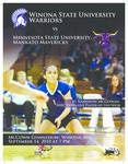 2010 Volleyball Program Covers and Inserts: Winona State University