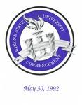 1992 Commencement Program: Winona State University by Winona State University