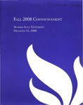 2008 Fall Commencement Program: Winona State University by Winona State University