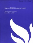 2009 Spring Commencement Program: Winona State University