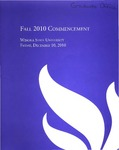 2010 Fall Commencement Program: Winona State University by Winona State University