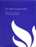 2011 Fall Commencement Program: Winona State University by Winona State University