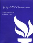 2012 Spring Commencement Program: Winona State University by Winona State University