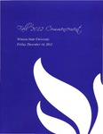 2012 Fall Commencement Program: Winona State University by Winona State University